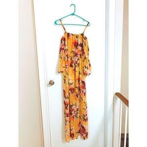 Vibrant Summer/Fall Maxi Dress